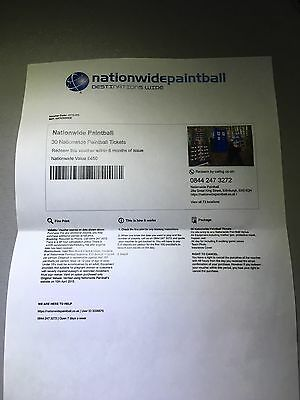 30 Nationwide Paintball Tickets