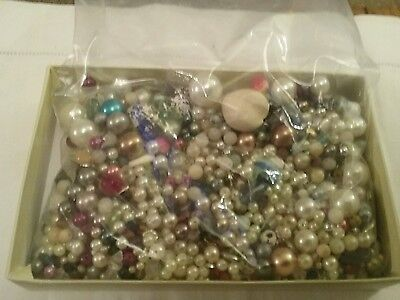 Jewellery Making Beads Mixed Sizes .  460 Gms Approx