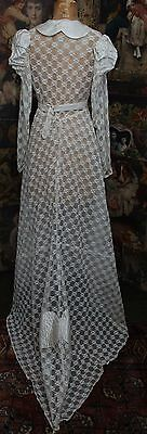 Lovely Handmade Antique 1940's Lace Wedding Dress Size 8/10 With Net Petticoat