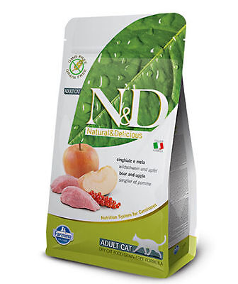 Farmina N&d Grain Free Adult Gatto Cinghiale E Mela