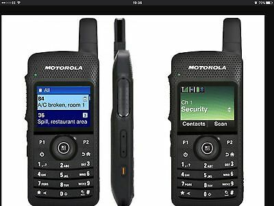 Motorola SL4000 UHF DMR Smartphone looking handheld with CPS13.6