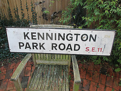 GENUINE 1970's LONDON STREET SIGN KENNINGTON PARK ROAD SE11