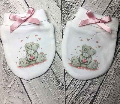 Tatty Teddy Bear Inspired Baby Scratch Mitts/mittens