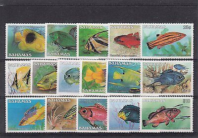 Bahamas 1986-87 Fish Definitives 16v MNH