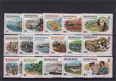 Bahamas 1980 Definitive Set of 16 MNH