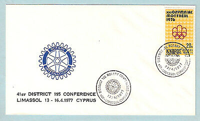 CYPRUS ROTARY 41st. DISTRICT 195 CONFERENCE LIMASSOL 13/4/1977 SPEC.CAN/ON COVER