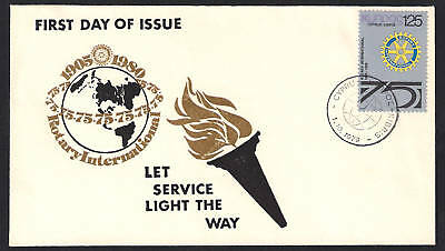 Cyprus 1979 Rotary 75Th Anniversary Let Service Light The Way Nice Unof/all Fdc.