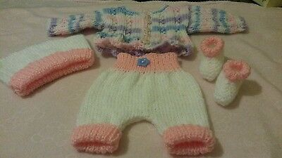 hand knitted dolls clothes to fit 14-16 inch doll