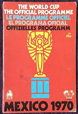 World Cup programme 1970 Mexico official tournament brochure