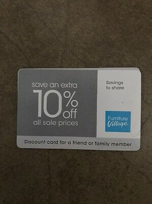 Furniture Village Discount Card, extra 10% off all sale prices, expires 05.03.17