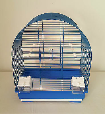 Bird Cage Canaries Budgies Finches Parrot with Feeder Seats and Waste Box