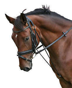 PFIFF German Black Leather Chambon Horse & Pony Training/Schooling/Lunging Aid