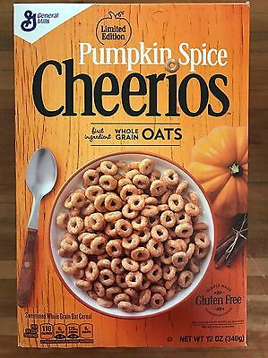 US Pumpkin Spice Cheerios Cereal 340g Box Limited Edition Vic Pickup