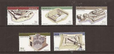 Malta 2003 Military Architecture Mnh Set Of Stamps