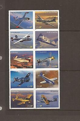 Usa 2005 Aviation S/adhesive Mnh Set Of Stamps