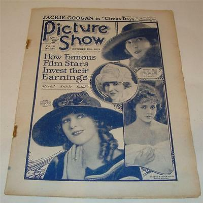 PICTURE SHOW FILM WEEKLY OCT 20th 1923 JACKIE COOGAN ALMA RUBENS  165