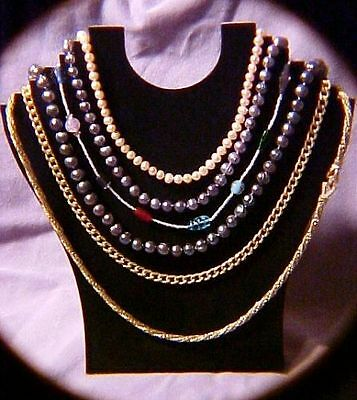 Black Necklace Jewelry Display Holds 6 Necklaces low $ necklaces, anklets  JD007