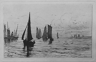 George Straton Ferrier (Scottish 1852-1912)Fishing Boats coming in from the Sea