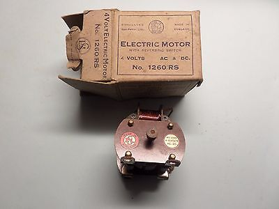 Vintage Signalling Equipment Electric Motor 4 Volts Ac & Dc 1260/rs Boxed
