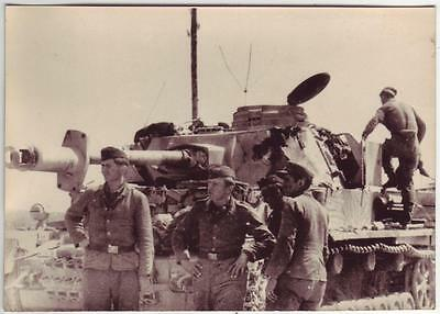 German Wwii Photo From Russian Archive: Panzer Iv Tank And Its Crew