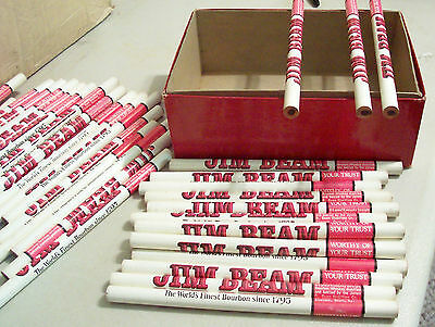 Lot of 39 Jim Beam Bourbon Whiskey advertising tavern bar new old stock pencils