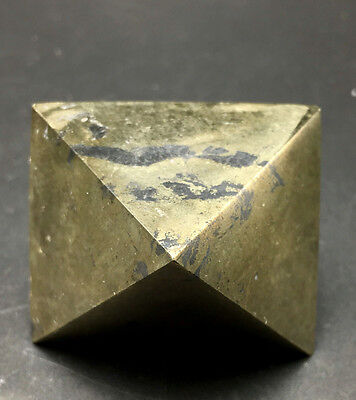 307g  Pure natural diamond octahedral shiny golden pyrite crystals