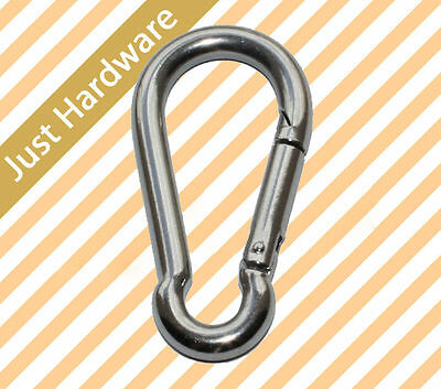 Snap Hook Clip Camping Lock Stainless steel S S 5 6 8 10 mm climb New