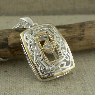 Sterling Silver Diamond Celtic Window to the Soul Pendant KEITH JACK Jewelry