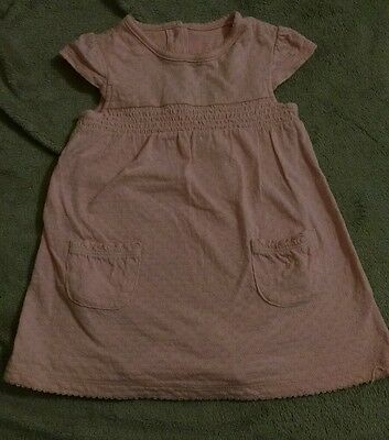 Tu Baby Girls  Dress With Attached Bodysuit. 3-6 Months.