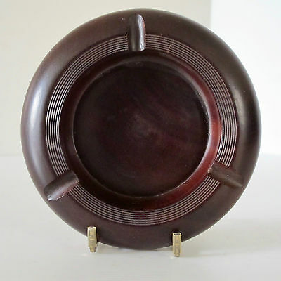 Edwardian Cherry Wood Ashtray, Lathe-Turned, in Perfect Condition c.1910