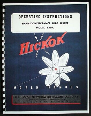 Hickok 539A Tube Tester Manual