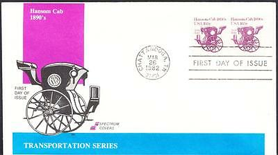 1890s HANSOM CAB Transportation Coil Stamps 1904 Spectrum FDC (1879)