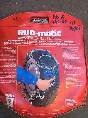 RUD-matic snow chains Size 185-14 Heavy Duty Spike Ketten