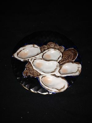 """7 1/2"""" Limoges Turkey Oyster Plate"""