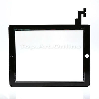 Black Touch Screen Glass Digitizer For iPad 2 Repair Replacement Part
