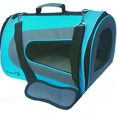 Mr. Peanut's Airline Approved Soft Sided Pet Carrier, Two-Tone Luxury Travel