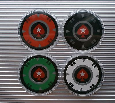 1 Pokerstars Casino Poker Chip Card Protector/guard - New