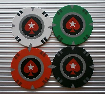 Choose 2 Pokerstars Red Spade Logo Casino Poker Chips - New