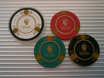 Caesars Palace Poker Chip Card Guard - Choose From White, Red, Green Or Black