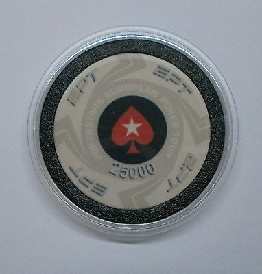 Pokerstars European Poker Tour (Ept) - $25,000 Poker Card Guard/protector - New