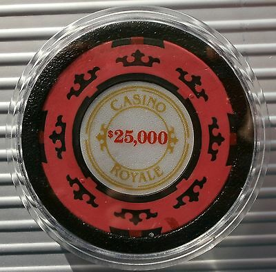 Casino Royale James Bond 007 Poker - $25,000 Casino Chip Card Guard/protector