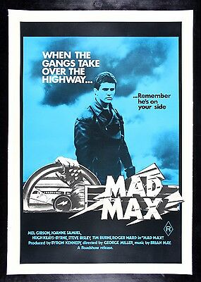 MAD MAX * CineMasterpieces RARE AUSTRALIAN ORIGINAL MOVIE POSTER 1981 AUSTRALIA