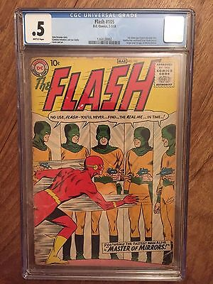 Flash  #105  Cgc 0.5  Brittle Pages  (1St Silver Age Flash)