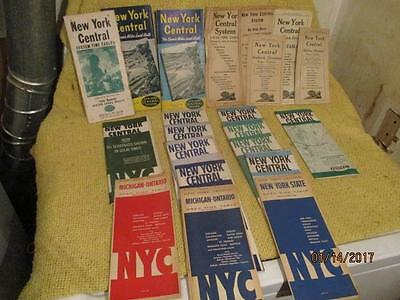 22 NEW YORK CENTRAL RAIL RD TIME TABLES NY CITY LINE MAP 1947-60 WATER LEVEL Rt