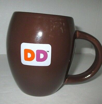 A Great Looking Dunkin Donuts -Dd- Brown Coffee Cup/mug-In Great Condition