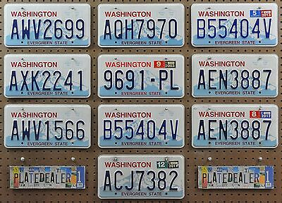 10 WASHINGTON Rainier License Plates Car Tags Man Cave Signs Hobbies LOT 699