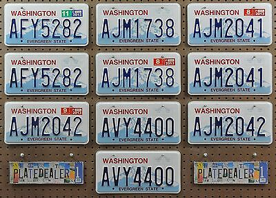 10 WASHINGTON Rainier Pairs License Plates Tags Man Cave Signs Hobbies LOT 282