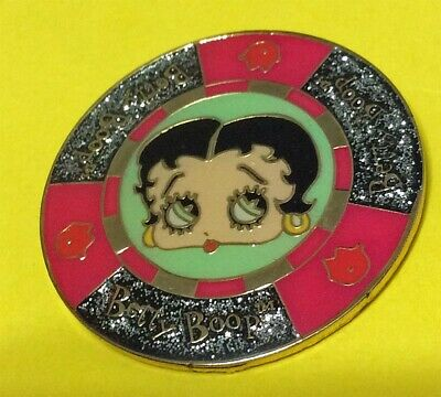 Betty Boop's Closeup Sparkly Circle Collector Pin