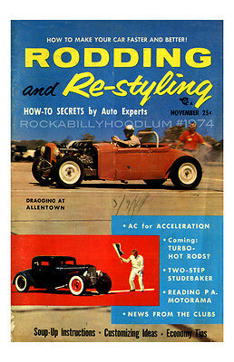 Automobilia Neu Hot Rod Plakat 11x17 Rodding Und Re-styling Für Royal Roadster Race
