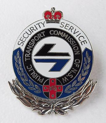 PTC of NSW Security Service replica badge Not Police Fire Emergency Railway